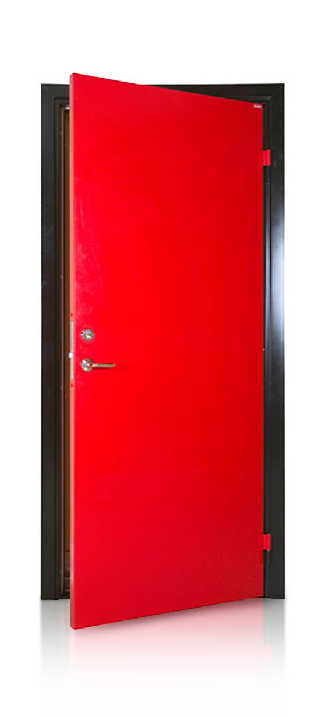 Röd Branddörr Dörrakuten