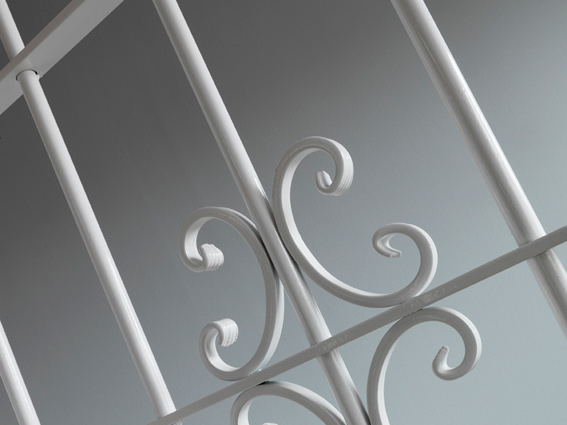 Galler vit detalj Dörrakuten